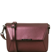 Tuscany Leather TL141649 Metallic Bag Bordeaux
