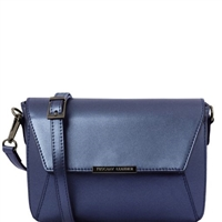 Tuscany Leather TL141649 Metallic Bag Blue