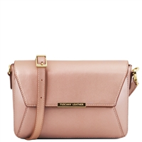 Tuscany Leather TL141649 Metallic Bag Pink