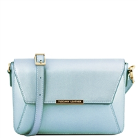 Tuscany Leather TL141649 Metallic Bag Light Blue