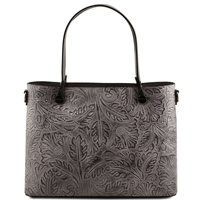 Tuscany Leather TL141655 Atena Leather Tote - Grey