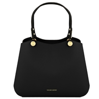 TL141684 Anna Leather Handbag by Tuscany Leather Black