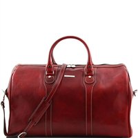Tuscany Leather Oslo TL1044 Travel leather duffle bag - Weekender bag - Red