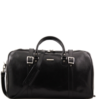 Tuscany Leather Berlin TL1013 Travel leather duffel bag Large - Black