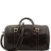Tuscany Leather Berlin TL1013 Large Leather Travel duffel bag - Dark Brown