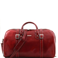 Tuscany Leather Berlin TL1013 Large Travel leather duffel bag - Red
