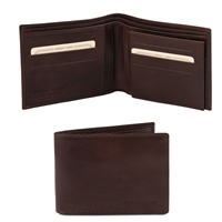 Tuscany Leather TL140817 Leather Wallet for Men - Dark Brown