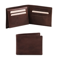 Tuscany Leather TL140760 Leather Wallet for Men - Dark Brown