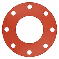 Red Rubber Full Face Gasket
