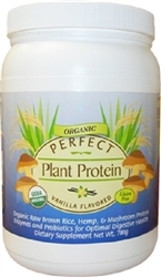 PERFECT Plant Protein Organic Raw Brown Rice, Hemp & Mushrooms Protein Vanilla