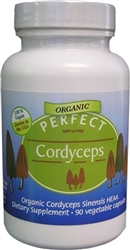 PERFECT Cordyceps - Organic Cordyceps Sinensis, 90 Vegetable Capsules
