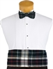 CJ Plaid Bow Tie and Cummerbund Set