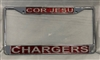 Cor Jesu Chargers License Plate Frame