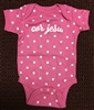 Infant Pink Polka Dot Onesie