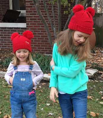 Youth Double Pom Beanie Hat