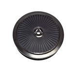 1967 - 1992 Air Cleaner Assembly, Open Element, Breathe Thru Top with Washable Filter, Black Ring