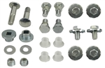 1967 - 1969 Convertible Top Bolts and Pivots Set, Shouldered, Frame Mounting