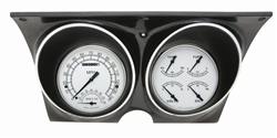1967 - 1968 Dash Instrument Cluster Housing with Gauges (Classic White), Custom OE Style