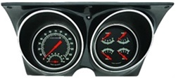 1967 - 1968 Firebird Dash Instrument Cluster Housing with Gauges (G-Stock), Custom OE Style