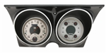 1967 - 1968 Dash Instrument Cluster Housing with Gauges (All American Nickel), Custom OE Style