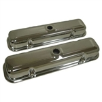 1967 - 1981 Custom Chrome Pontiac Engine Valve Covers Set Without Drippers