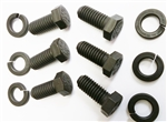 1980 - 1981 Engine Block Side Motor Mount Bolts Set, 8 Piece Kit OE Style Notched / Slotted head