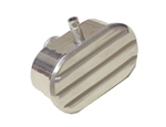 "Valve Cover Breather Cap, with PCV Polished Aluminum Oval Finned, 1"" Diameter Tube"