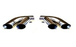 "Trans Am Splitter Style Dual Exhaust Tips in Stainless Steel, 2-1/4"" Pipes - Pair"
