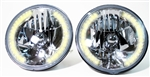 "1967 - 1981 Firebird 7"" Crystal Halogen Halo Headlight Set with 34 LED Auxiliary Bulbs ( Amber )"