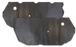 1968 - 1969 Firebird Door Panel Water Shields Set, Convertible, Front, OE Style