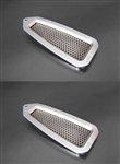 1968 - 1969 Firebird Door Jam Vent Louvers Billet Pair