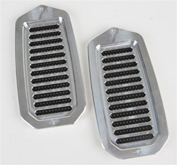 1970 - 1981 Door Jamb Air Vent Louvers, Billet Aluminum, Choice of Finish, Pair
