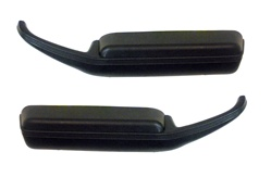 1978 - 1981 Door Panel Arm Rests Pull Grab Handles Black - Pair of LH and RH