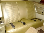 1967 - 1968 Firebird Rear Seat Covers Coupe and Convertible Stationary Standard Interior