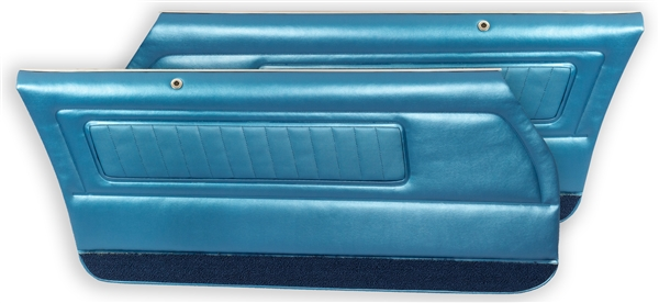 1970 - 1971 Firebird and Trans Am Deluxe Front Door Panels - Pre-Assembled (PAD)