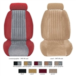 1985 - 1986 Front Bucket Seat Covers, Two Tone