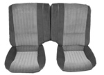1985 - 1986 Split Fold-Down Rear Seat Covers, Two Tone