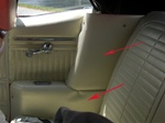 1967-1969 Rear Arm Rest Covers Convertible