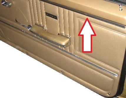 1967 Firebird Front Upper Door Panel Stainless Steel Trim Molding