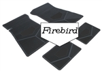 1975-1981 Custom Rubber Floor Mats Set, Firebird Block Letters