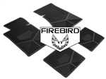 1982-1984 Custom Rubber Floor Mats Set, Firebird Block Letters w/ Bird Emblem