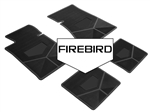 1982-1984 Custom Rubber Floor Mats Set, Firebird Block Letters