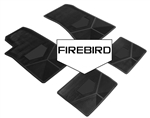 1985-1992 Custom Rubber Floor Mats Set, Firebird Block Letters