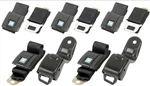 1967 - 1969 Firebird Seat Belt Set, Standard Buckles Front and Rear, OE Style