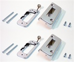 1969 Headrest Lock and Adjust Bracket Set, Chrome