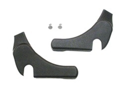 1971 - 1981 Firebird and Trans Am Seat Hinge Arm Covers, Lower Side, Plastic, Black, OE Style, Pair