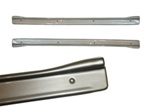 1967-1969 Door Sill Plates in Brushed Stainless Look