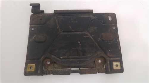 1970 - 1973 Firebird or Trans Am Rear License Plate Fuel Door Assembly Used GM & 1973 Firebird or Trans Am Rear License Plate Fuel Door Assembly Used GM