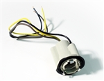 1970 - 1978 Tail Light Socket with Wiring Lead for Double Filament Bulb, Each