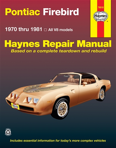 1970 1981 pontiac firebird trans am haynes repair manual rh firebirdcentral com